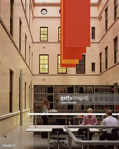Hm Treasury, London, United Kingdom, Architect Foster And Partners Hm Treasury Library With Banners By Per Arnoldi