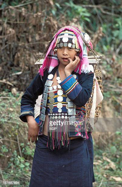 Hmong Ethnic Group Woman In Traditional Clothing Belonging To The Ethnos Of The HmongIn The North Of Laos Live The Tribe Ikos Belonging To The Ethnos...