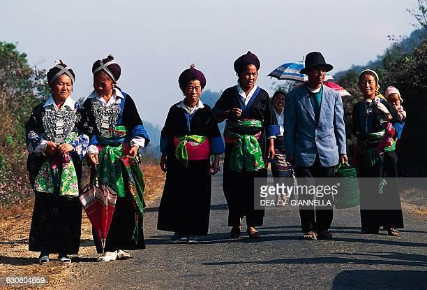 Hmong family Plain of Jars Laos
