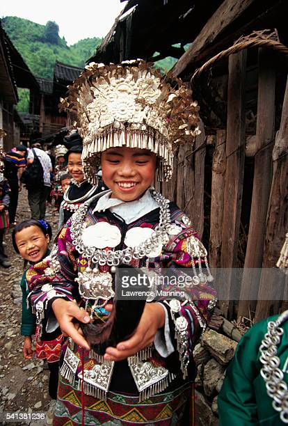Hmong Girl in Ceremonial Dress