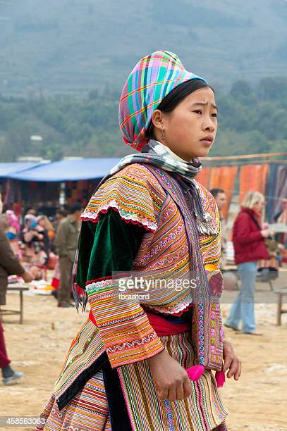 Hmong Woman At Bac Ha Market In Vietnam