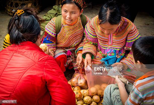 Hmong woman at the market, Vietnam