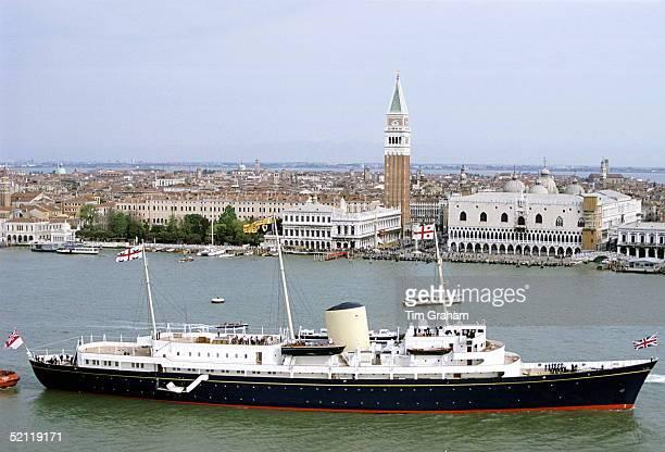 Hmy Britannia Arriving In Venice Italy
