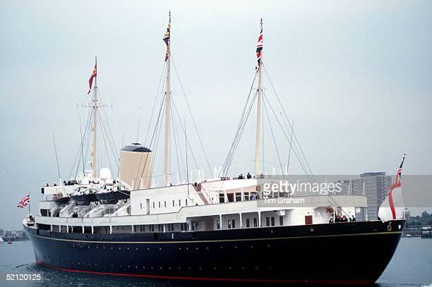 Hmy Britannia At Seacirca 1990s