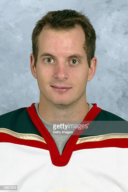 Hnat Domenichelli of the Minnesota Wild poses for a portrait on September 1 2002 at the Xcel Energy Center in St Paul Minnesota