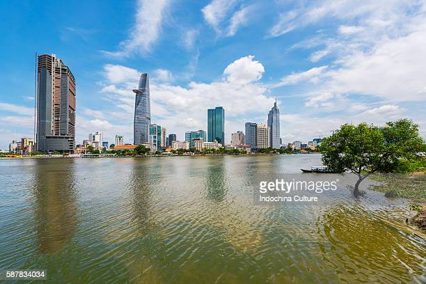 Ho Chi Minh city finance district view from Saigon River