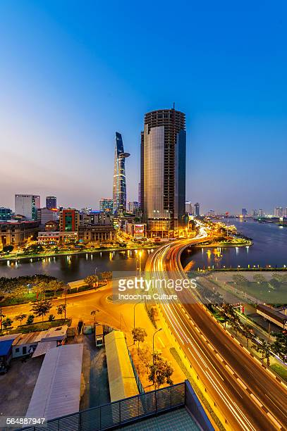 Ho Chi Minh city Financial district at blue hour