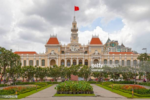 ho chi minh city hall - people's committee building ho chi minh city stock pictures, royalty-free photos & images