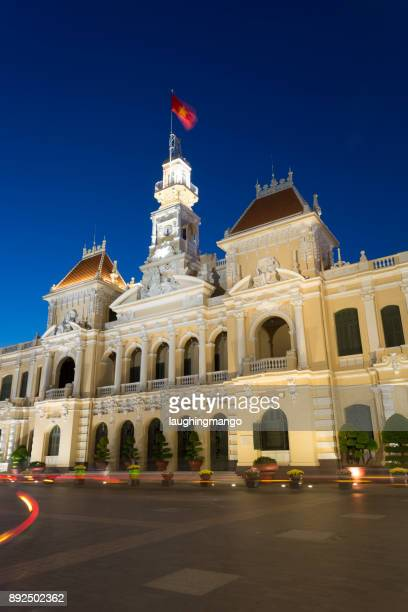 ho chi minh city hall saigon vietnam - people's committee building ho chi minh city stock pictures, royalty-free photos & images