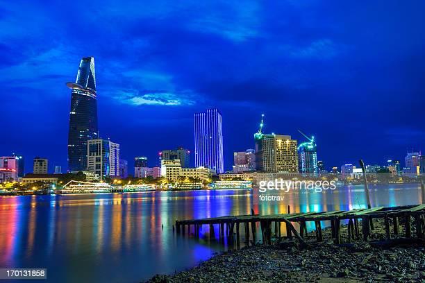 Ho Chi Minh City Night Skyline