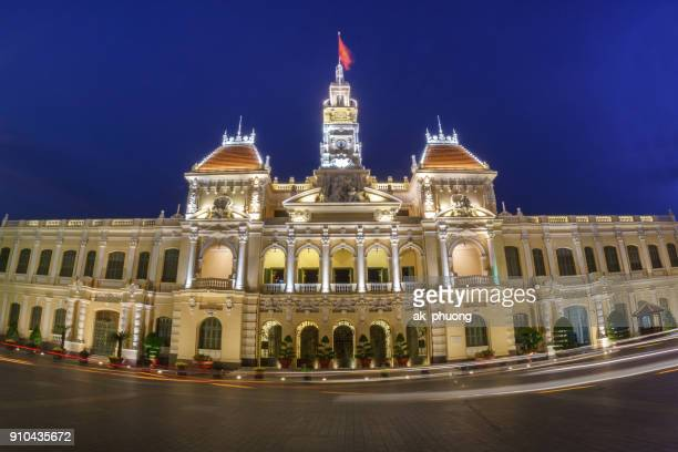 ho chi minh city people's committee head office - people's committee building ho chi minh city stock pictures, royalty-free photos & images