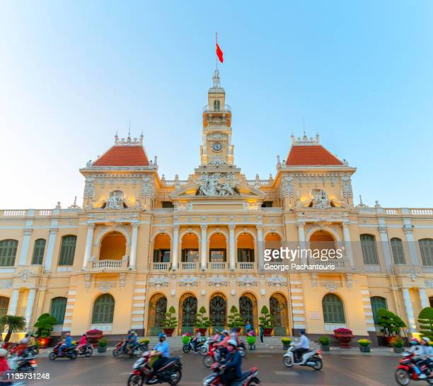 ho chi minh city people's committee, vietnam - people's committee building ho chi minh city stock pictures, royalty-free photos & images