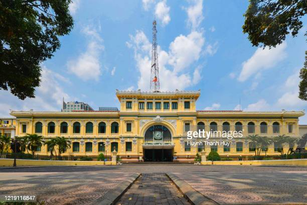 ho chi minh city post office - south vietnam stock pictures, royalty-free photos & images