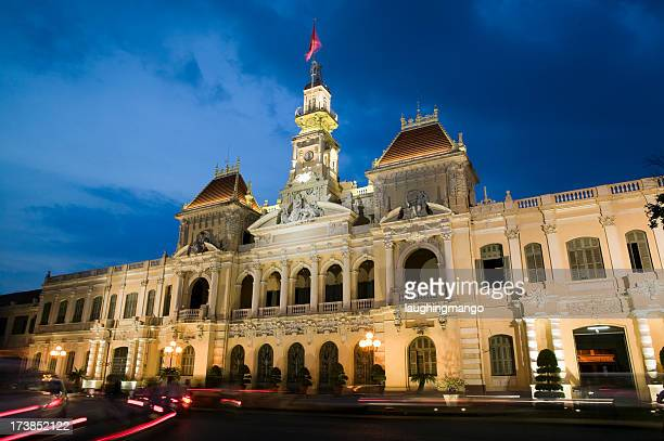 ho chi minh city saigon vietnam hotel de ville - people's committee building ho chi minh city stock pictures, royalty-free photos & images