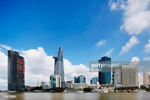 Ho Chi Minh City Skyline and Sigon river