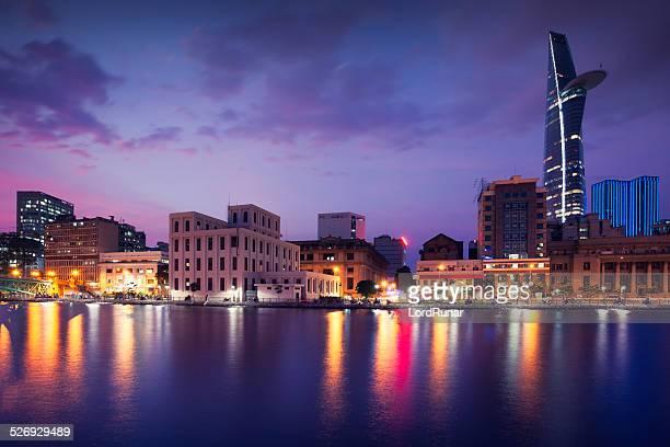 Ho Chi Minh City skyline by night