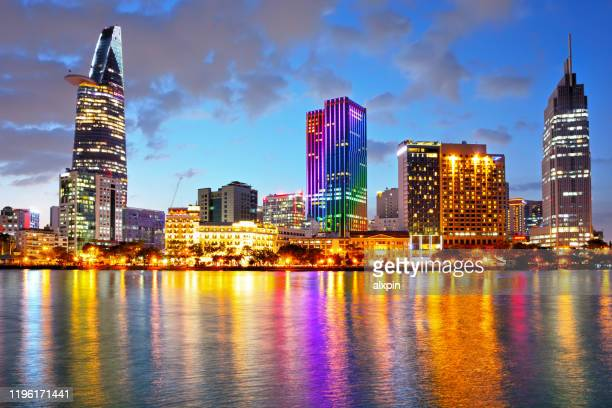 ho chi minh city skyline - ho chi minh city stock pictures, royalty-free photos & images