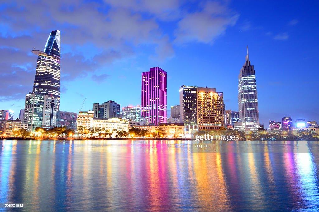 Ho Chi Minh City skyline : Stock Photo