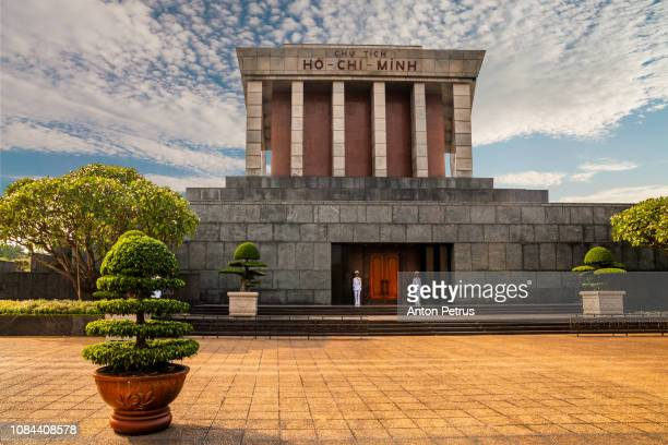 ho chi minh mausoleum in hanoi, vietnam in a summer day - anton petrus stock pictures, royalty-free photos & images
