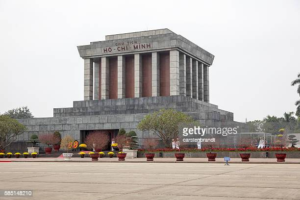Ho Chi Minh mausoleum with guards of honor