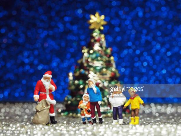 ho ho ho...merry christmas! - cartoon santa claus stock photos and pictures