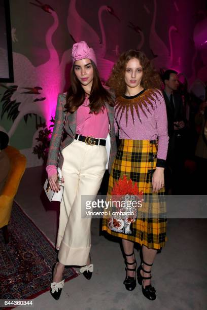 019a2c09807 Ho Ngoc Ha and Petra Collins attend Gucci Eyewear Cocktail Party during  Milan Fashion Week Fall