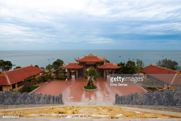 ho quoc - pagoda stock pictures, royalty-free photos & images