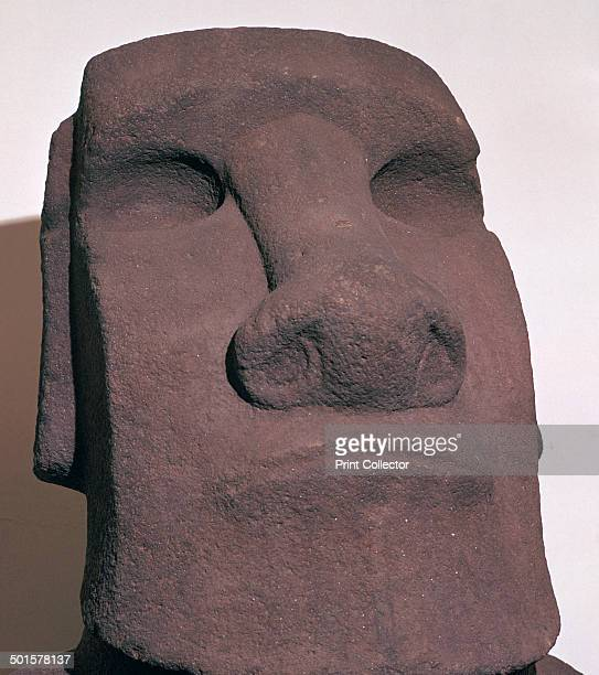 Hoa Hakananai'a from Orongo Easter Island Polynesia c1000 Easter Island's stone statues of human figures known as moai were probably carved to...