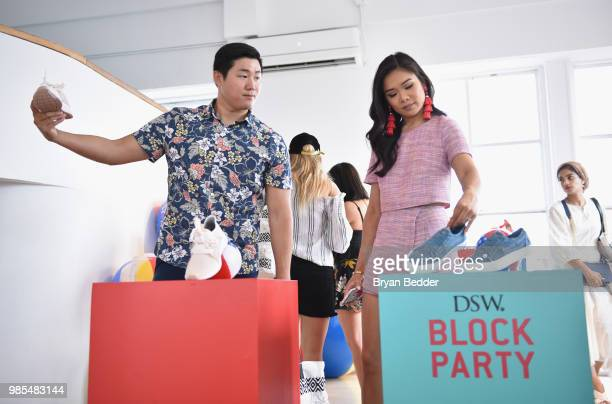HoangKim Cung attends DSW Block Party hosted by Olympians Adam Rippon and Mirai Nagasu on June 27 2018 at Ramscale Studio in New York City