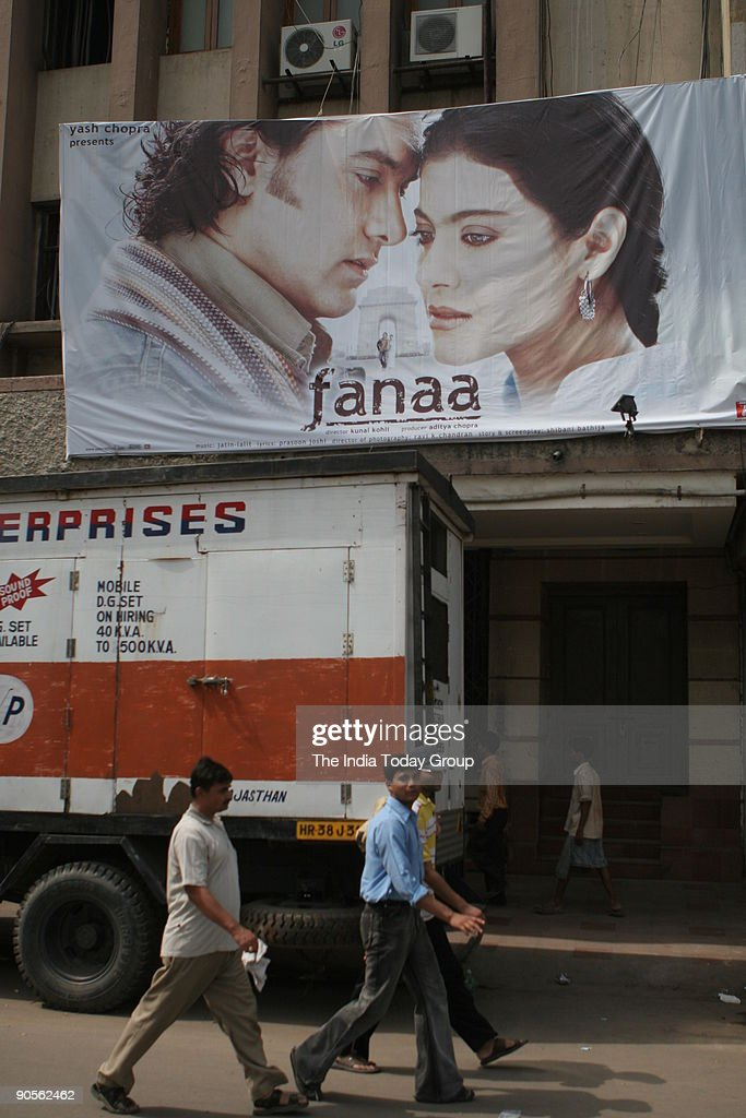 A hoarding of Aamir Khan and Kajol starrer