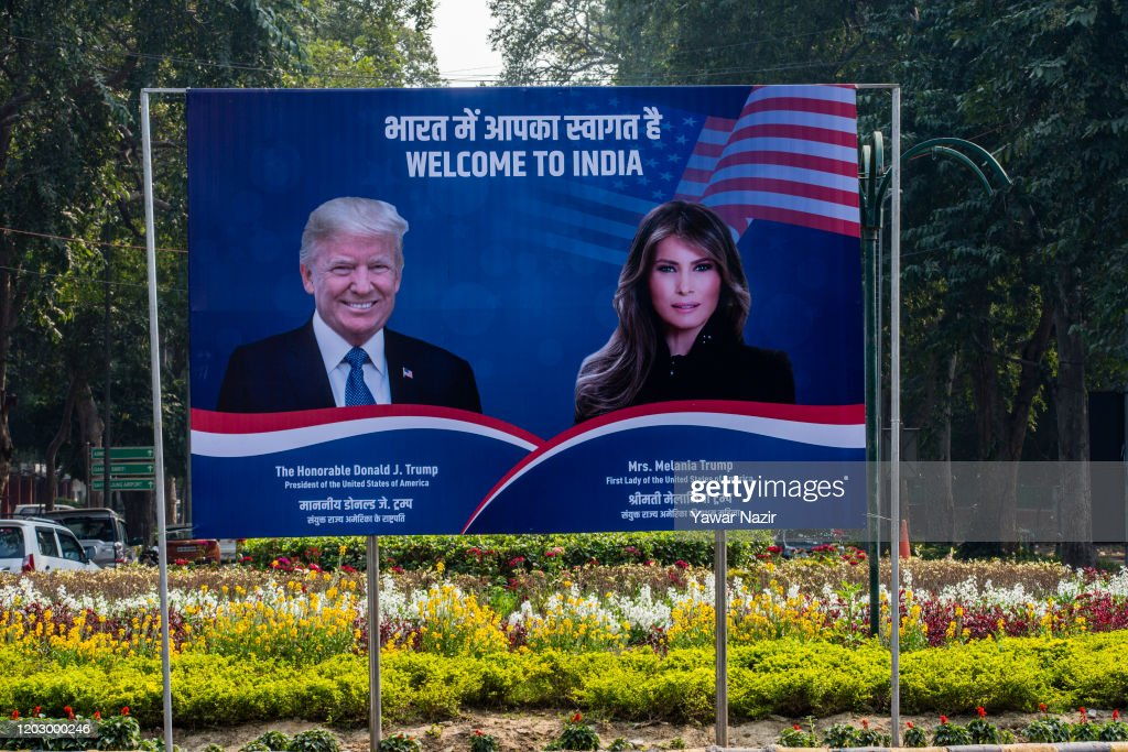 Protests As U.S. President Trump Visits India : News Photo