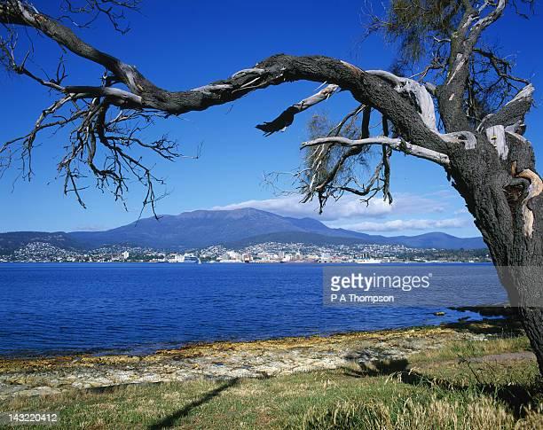 Hobart and Mount Wellington, Tasmania, Australia