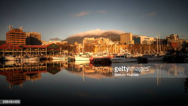 Hobart harbour sunrise