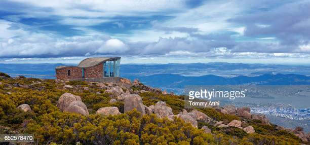 Hobart top view from Mt Wellington, Tasmania
