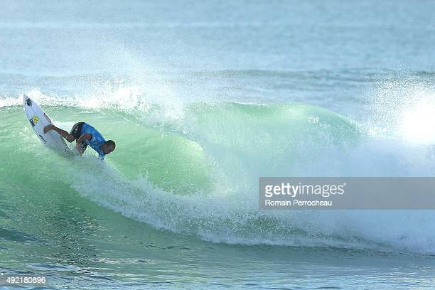 Hobgood of USA surfs into round 3 of Quiksilver Pro on October 10 2015 in Hossegor France