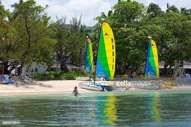 Hobie Cat sailboats at Half Moon Resort
