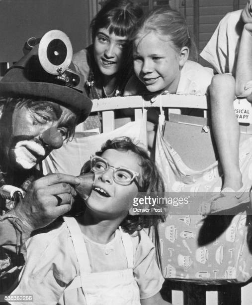 Hobo Clown Plays Doctor Beverly Richards of 134 S Decatur St Shelli Secrest Colby Kan' and Wendy Wilson 6 of 6905 W 32nd Ave Bozo who just returned...