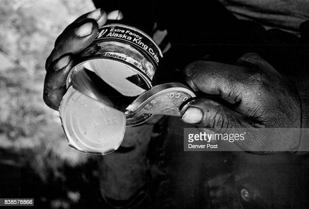 Hoboes A hobo who called himself 'Hambone' demonstrates how to make a can opener from the tin lid of a snuff tobacco can Credit Denver Post