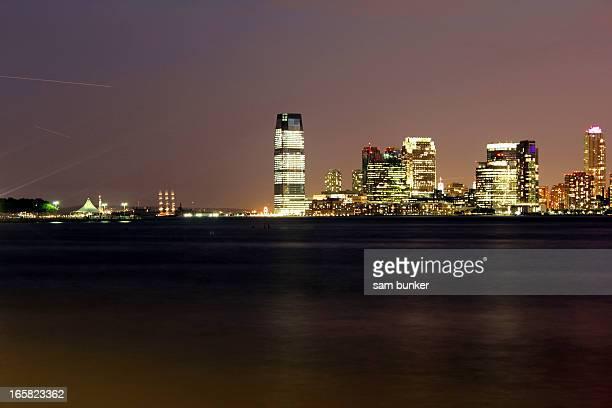 Hoboken cityscape at night
