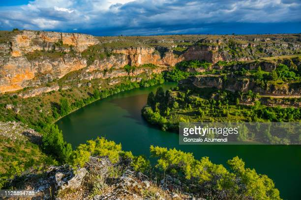hoces del rio duraton natural park in sepulveda in segovia - segovia stock pictures, royalty-free photos & images