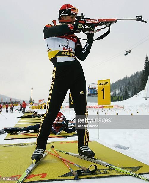 WM 2005 Hochfilzen 060305 10km Verfolgung Frauen Uschi DISL/GER