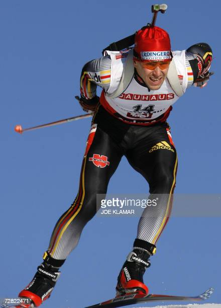 Germany's Michael Greis competes in men's 10 km sprint during the IBU biathlon World cup in Hochfilzen, 13 December 2006. Germany's Michael Greis won...