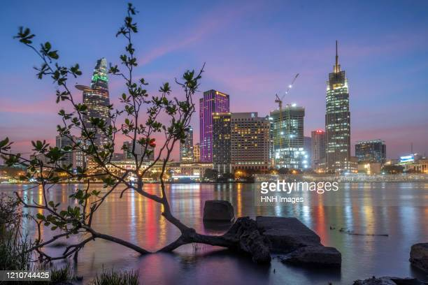 hochiminh city - saigon river stock pictures, royalty-free photos & images