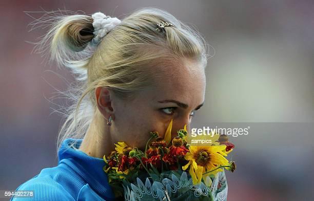 Hochsprung der Frauen Fnale highjump Siegerin World champion Svetlana Shkolina RUS Leichtathletik WM Weltmeisterschaft Moskau 2013 IAAF World...