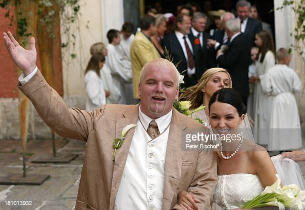 Hochzeit von DJ ; tzi , Ehefrau Sonja Kien-Friedle, Pöllau , ; sterreich, Braut, Brautkleid, Bräutigam, Ringe, Kirche, Hochzeitsgesellschaft,...