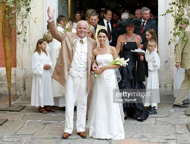 Hochzeit von DJ ; tzi , Ehefrau Sonja Kien-Friedle, Pöllau , ; sterreich, Braut, Brautkleid, Bräutigam, Kirche, Hochzeitsgesellschaft, Gesellschaft,...