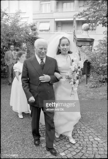 Hochzeit von Josephine Chaplin, Tochter von Charles , 1969