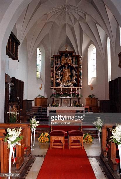 Hochzeit von Kai Böcking und AngelaBarzen Kirche Maria Himmelfahrt BadWiessel am Tegernsee