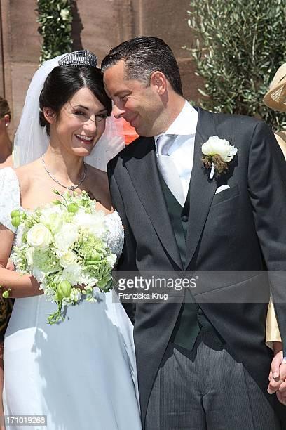 Hochzeit Von Mariella Ahrens Und Patrick Graf Von Faber Castell In Der Martin Luther Kirche In Stein Bei Nürnberg Am 070707
