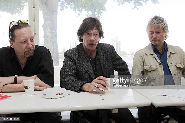 Hocker Frank Musician Guitarist Singer Germany with Juergen Becker and Wilhelm Koester